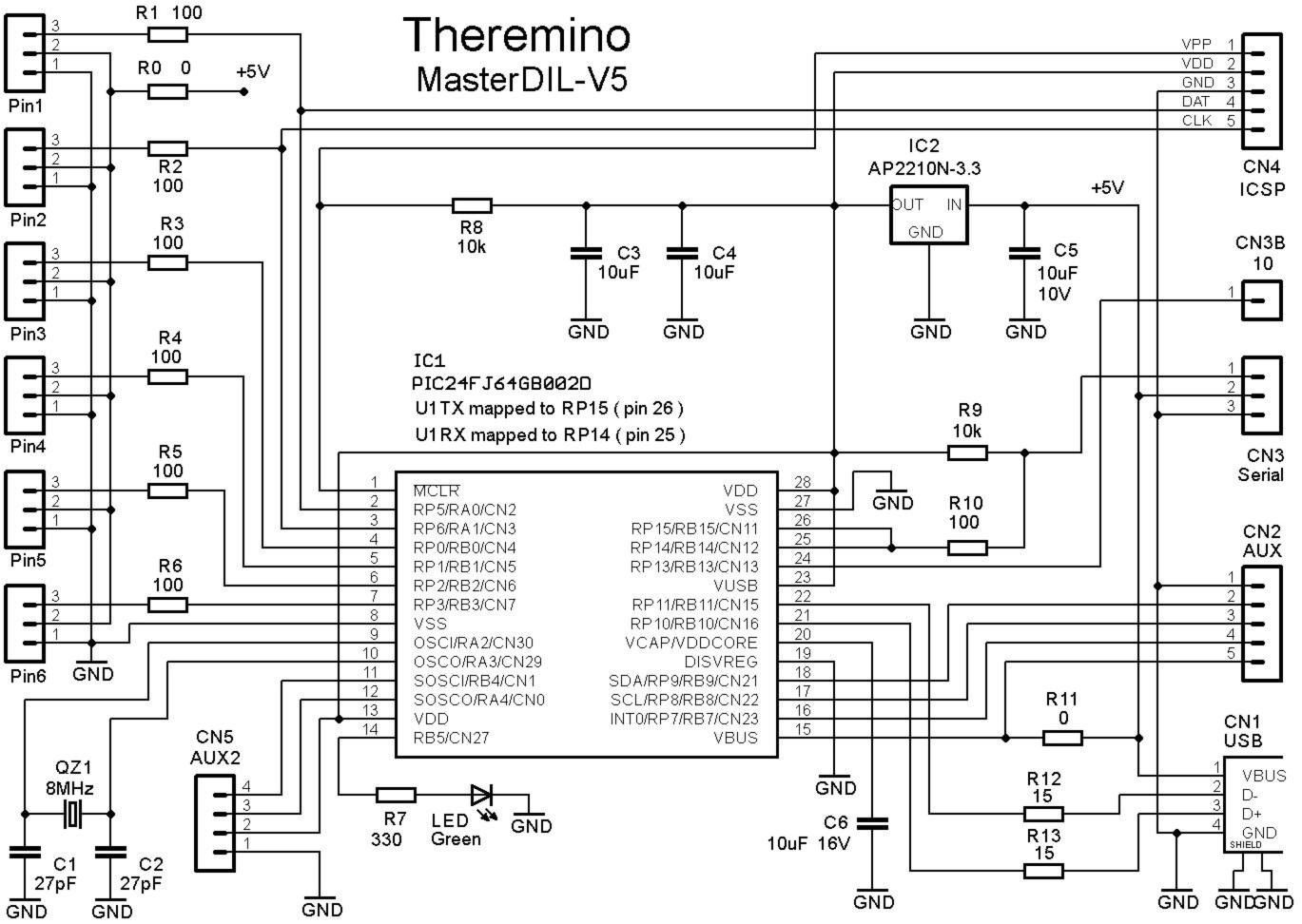 Wiring Diagrams Theremino Audio Technica Master Dil V5 Sch