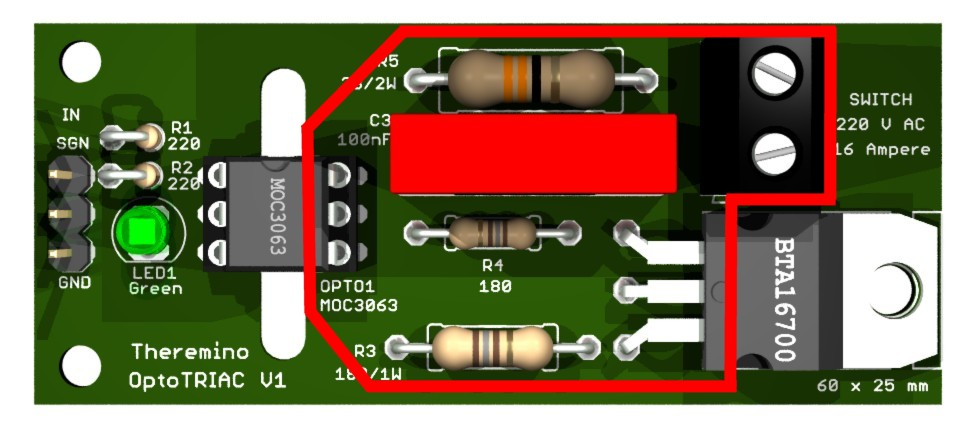 Theremino OptoTRIAC HiVoltage area