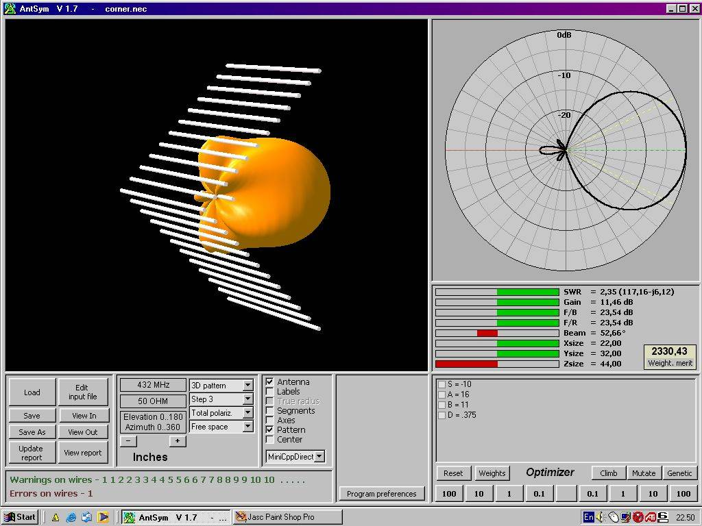 Antenna simulator - old 2002 version