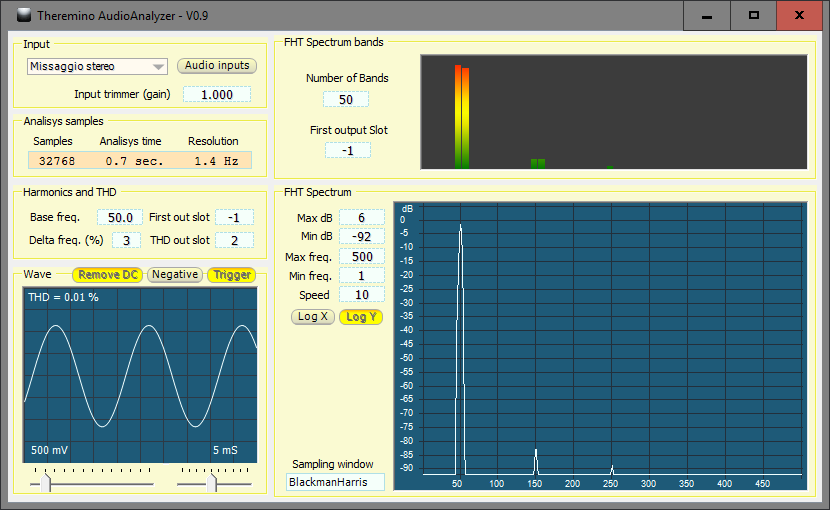 Theremino AudioAnalyzer