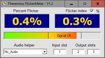 Theremino Flackern Meter