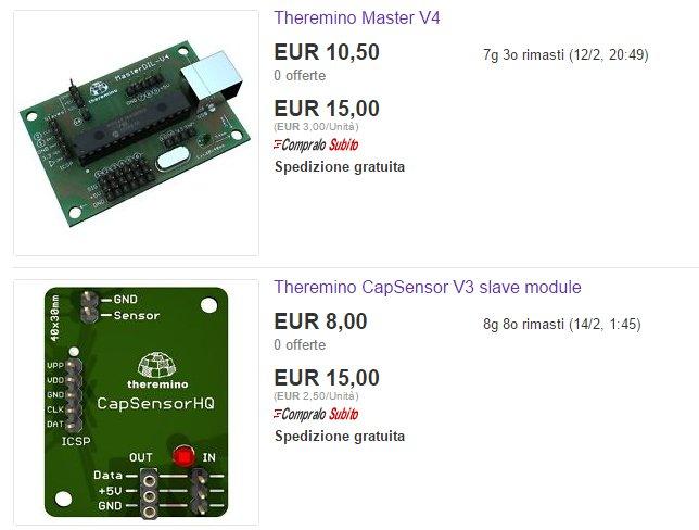 Theremino modules on eBay