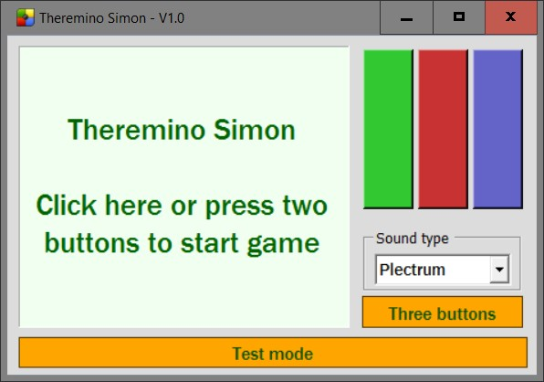 Theremino Simon Game Application