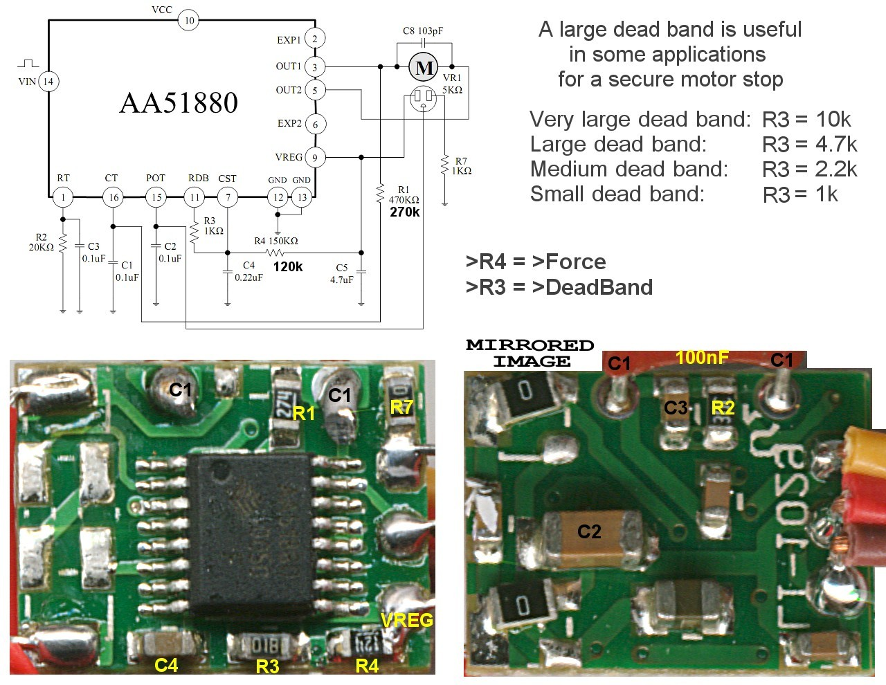 Motors Theremino 12 Lead 480 Volt Motor Wiring Diagram The Left Image Is A Schematic And Functional One On Right Indicates Modifications To Do Where Put Resistors
