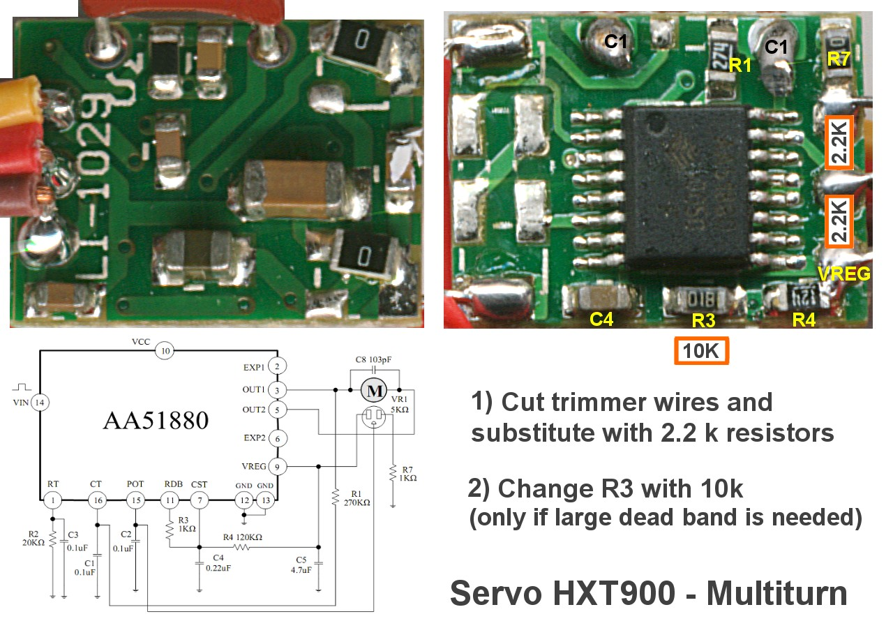 Motors Theremino Wiring Furthermore Wire Diagram For Motion Sensor Lights On A The Left Image Is Schematic And Functional One Right Indicates Modifications To Do Where Put Resistors