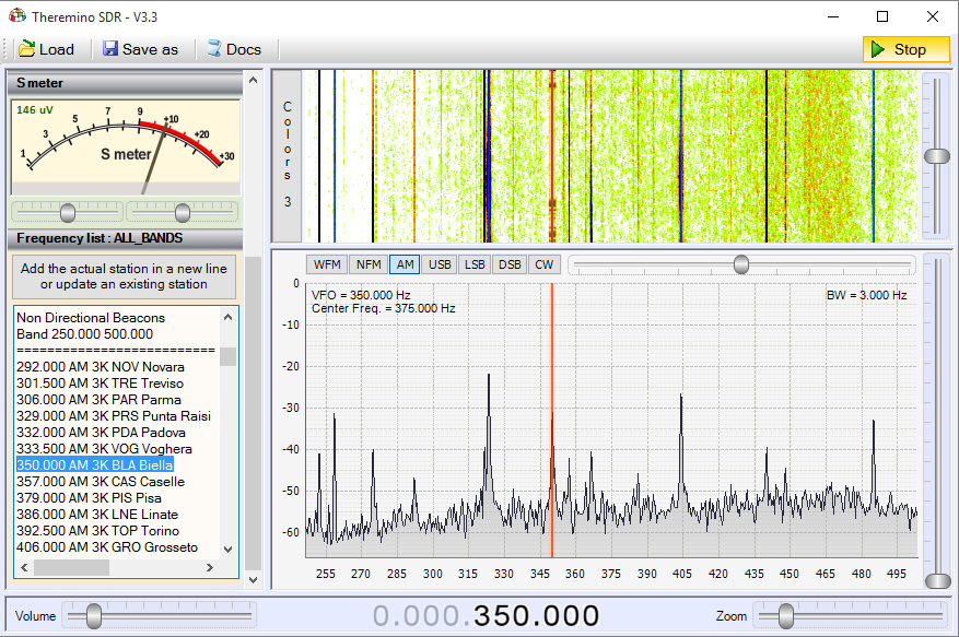 Theremino SDR - Band Beacons