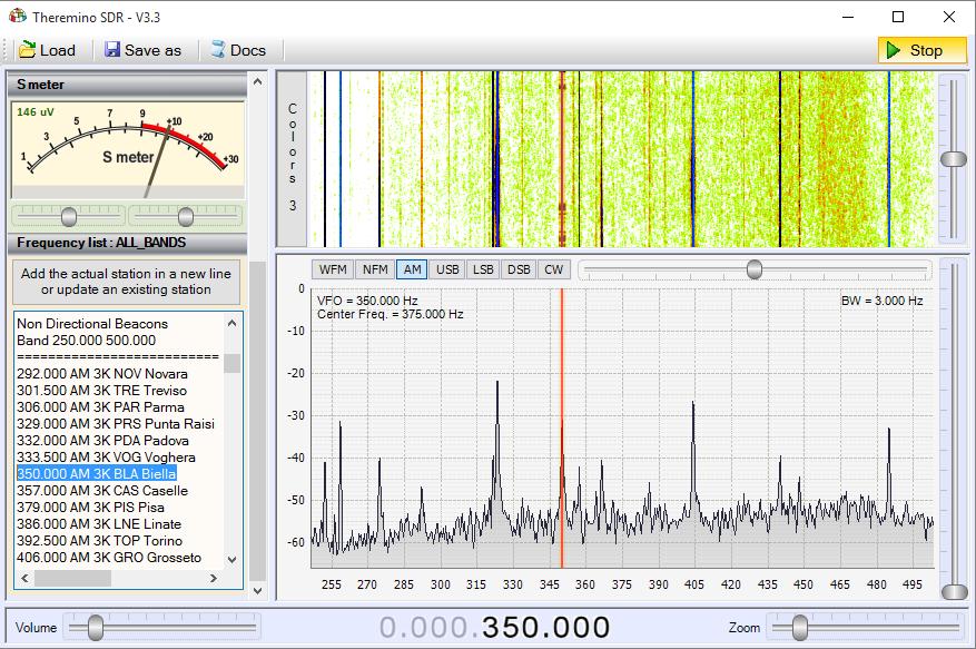 Theremino SDR - Band Beacons
