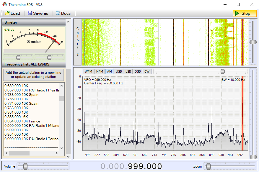 Theremino SDR - Band Medium Waves