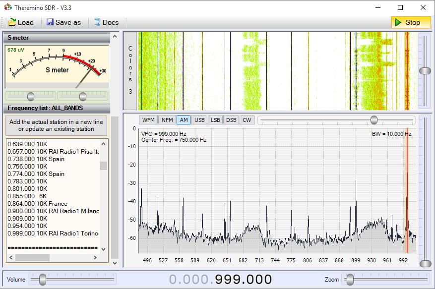Theremino SDR - Band Medium Waves