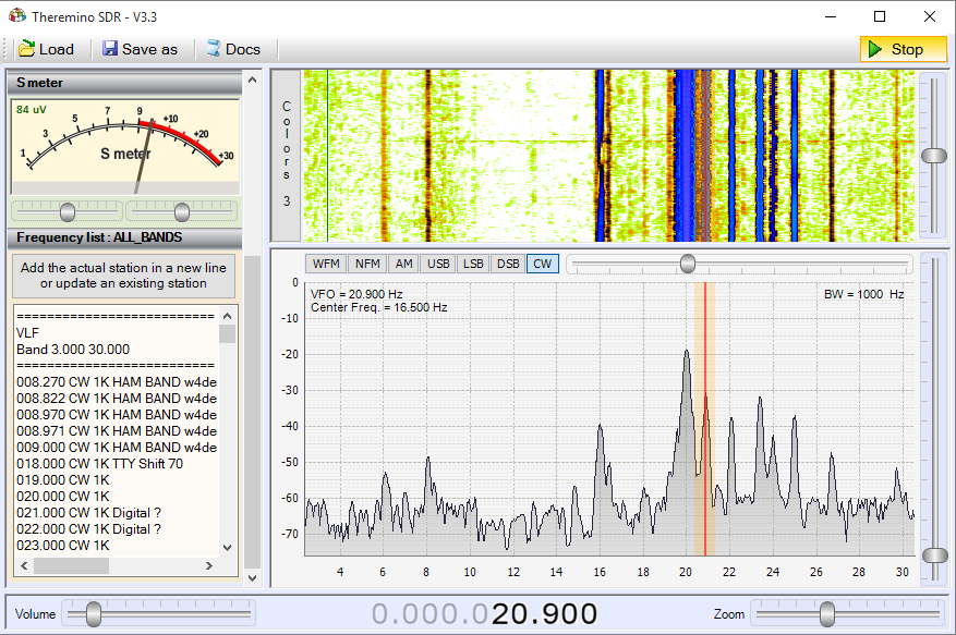 Theremino SDR - Band VLF