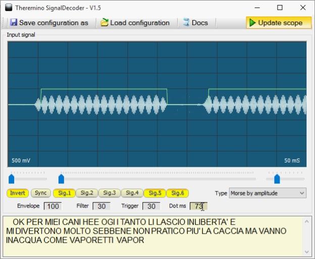 Theremino сигнал декодер