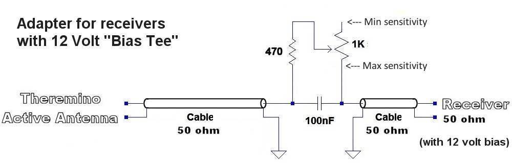 BiasTee 12 volt adapter