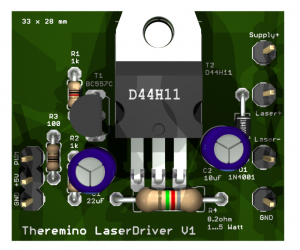 Theremino Laser Driver PCB