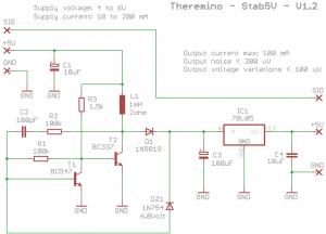 Theremino USB voltage stabilizer schematics