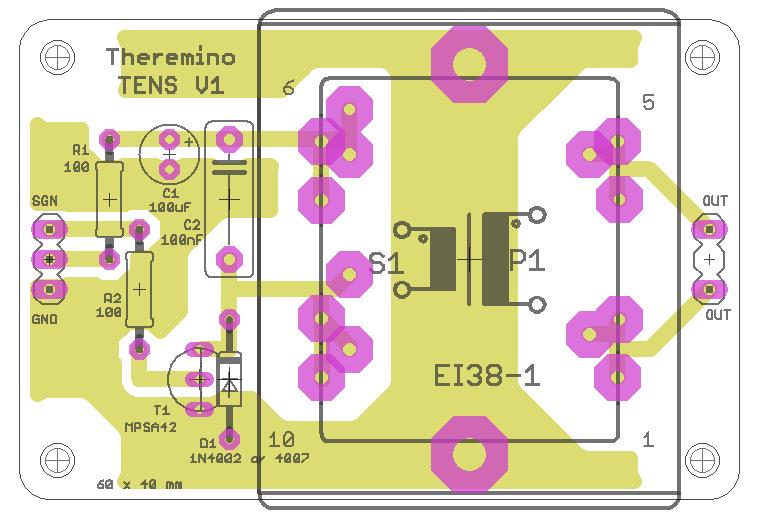 Theremino TENS V1 board