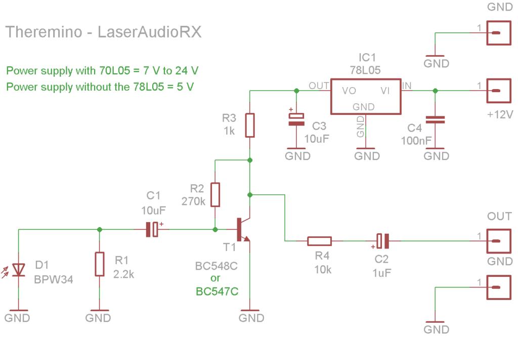 LaserAudioRX Schematics