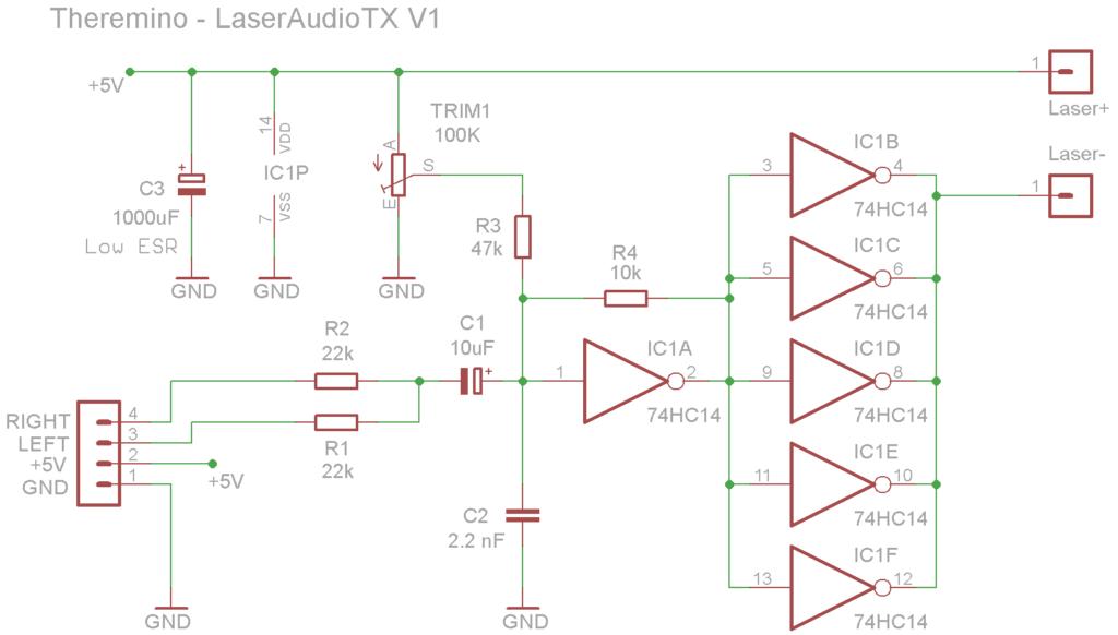 LaserAudioTX Schematics
