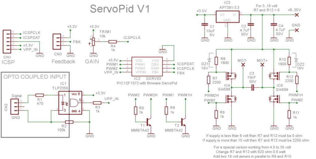 ServoPid V1 Schematics