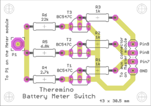 Battery Meter Switch board