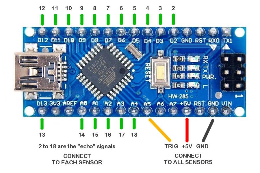 USOUND подключения Arduino Nano