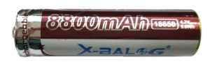 X-BAL batteries color red